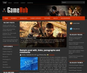 Game Hub Blogger Template