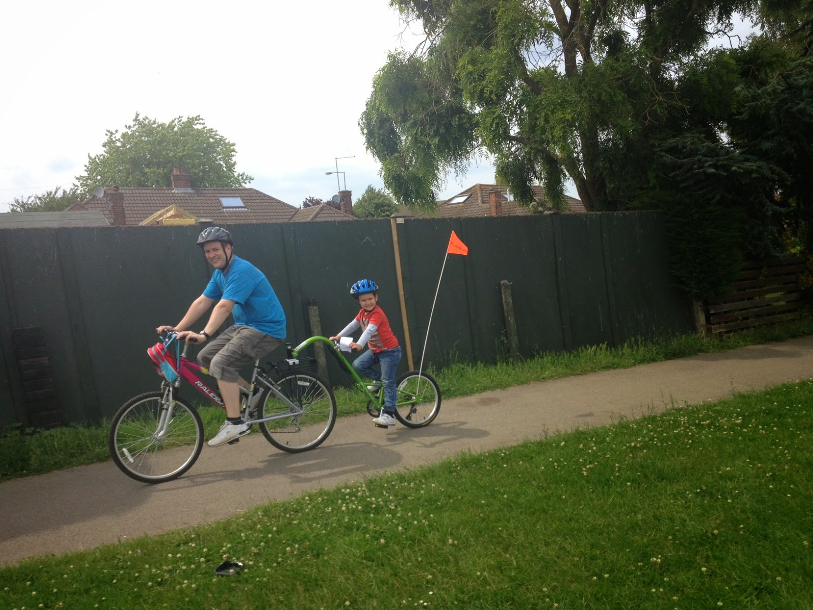 Big Boy and Daddy on the bike