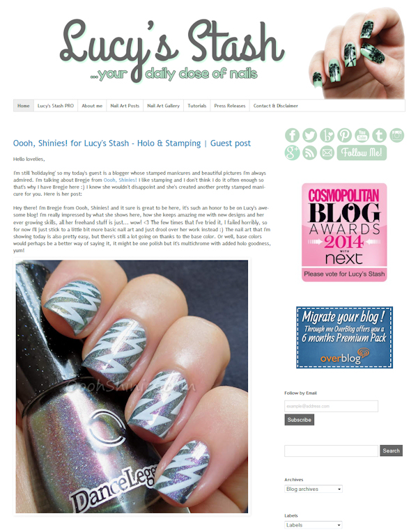 http://lucysstash.com/2014/08/oooh-shinies-for-lucy-s-stash-holo-stamping-guest-post.html