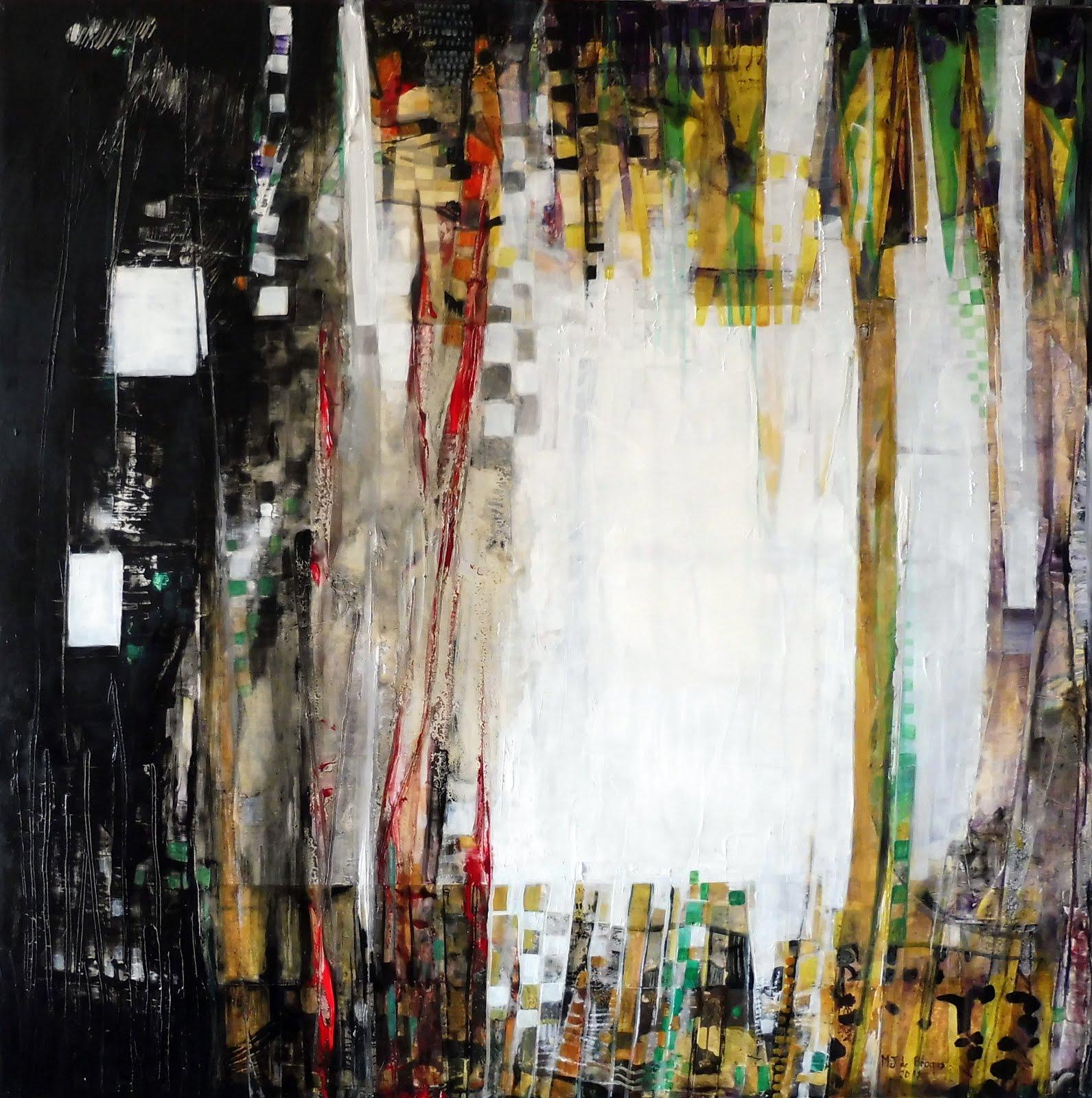 Mystérieuse jungle - 80 x 80 cm - 2018