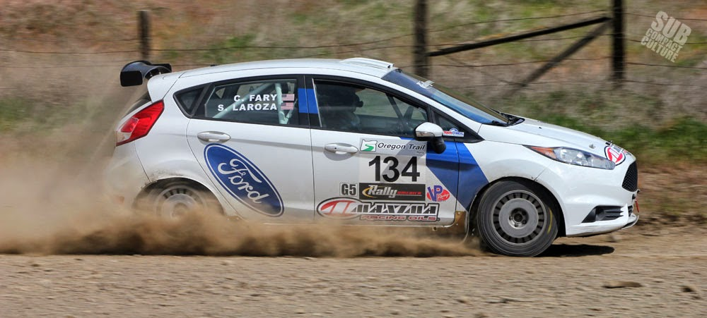 Ford Fiesta Rally Car at Oregon Trail Rally 2015