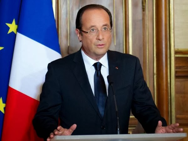 French President Francois Hollande Frames Rimless Glasses