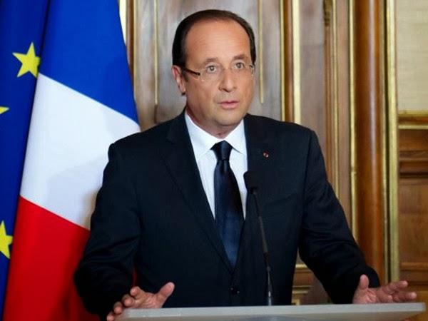 French President Francois Hollande Frames Rimless Glasses