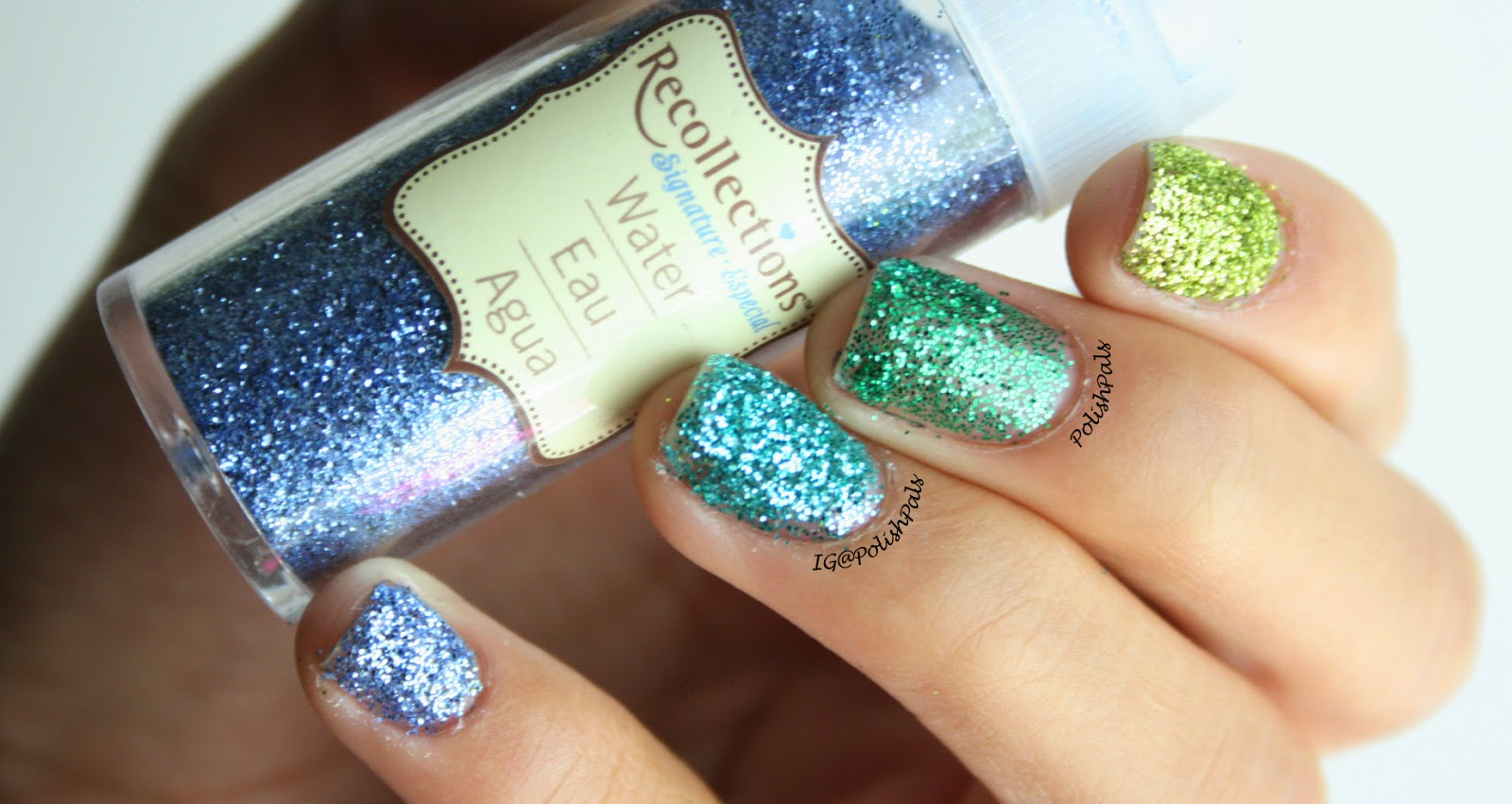 Polish pals ombre loose glitter nails tutorial prinsesfo Choice Image