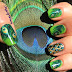 Peacock Nail Art Designs For Girls