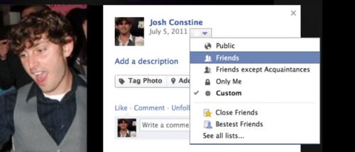 facebook foto privacy cellulare