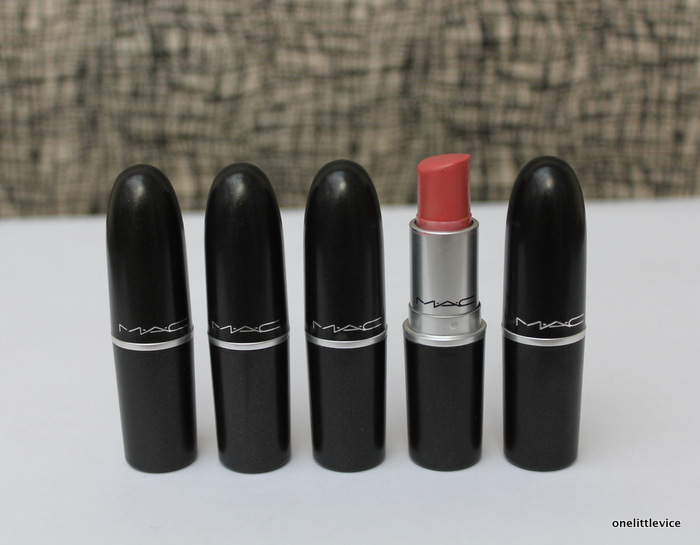 One Little Vice uk Beauty blog: mac wearable everyday pink lipstick