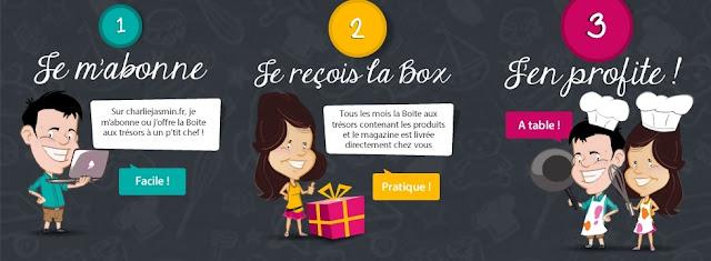 3 box Charlie Jasmin - Le colis gastronomique pour enfants de Nathalie de Masterchef !