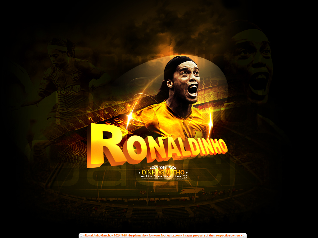 one of my favourite wallpapers - ronaldinho ~ photoshop journal