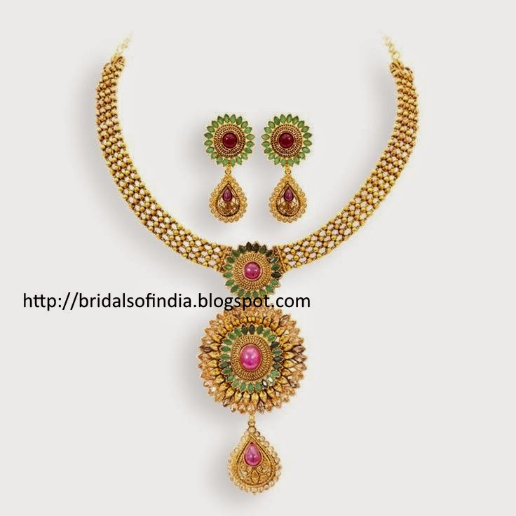 Bhima Jewellery Bands: Fashion World: Gorgeous Emerald And Ruby Bridal Necklace