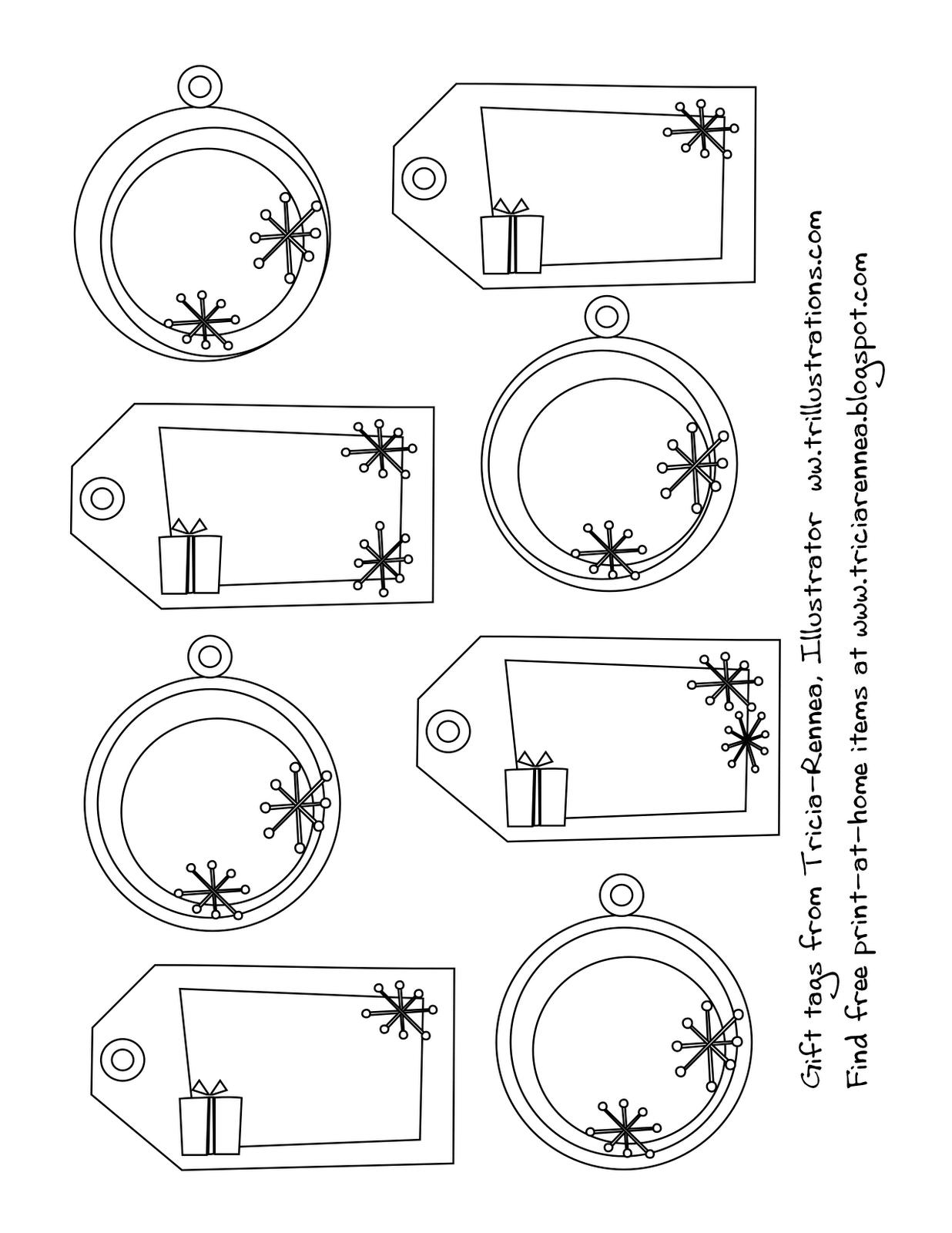 Dibujos y Plantillas para imprimir: Etiquetas Navidad