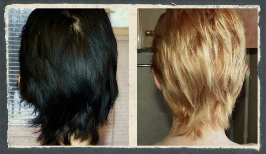 Смывка из брюнетки в блондинку