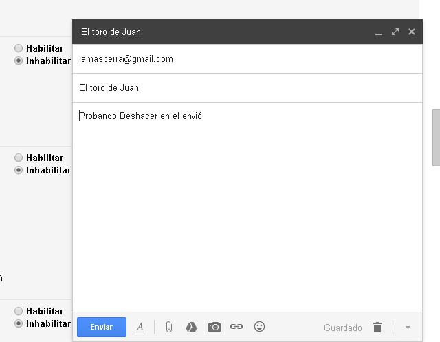 Enviar correo de Gmail