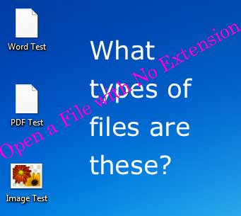 Computer Tips:  Open a File with No Extension