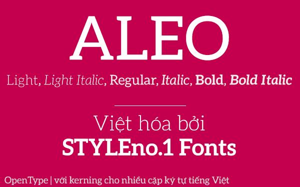 [Serif] Aleo Family Việt hóa