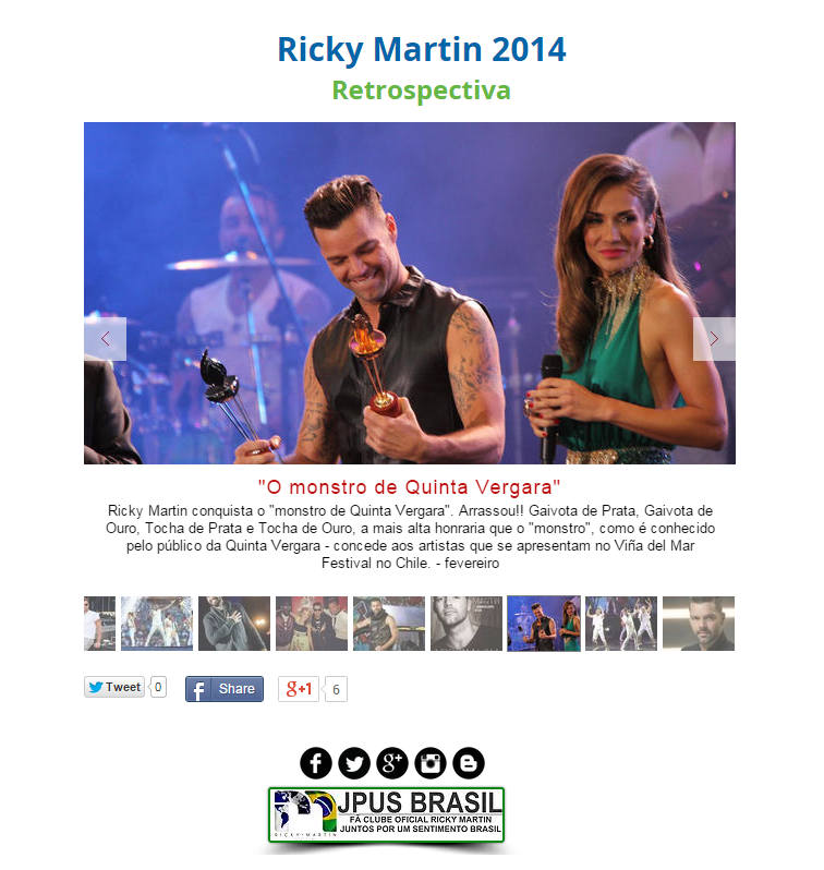 Retrospectiva Ricky Martin 2014