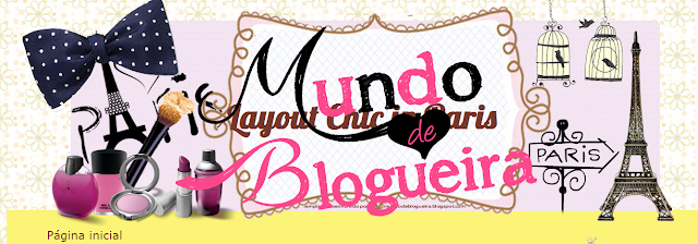 Template gratuito para blog - Layout Chic In Paris by Mundo de Blogueira