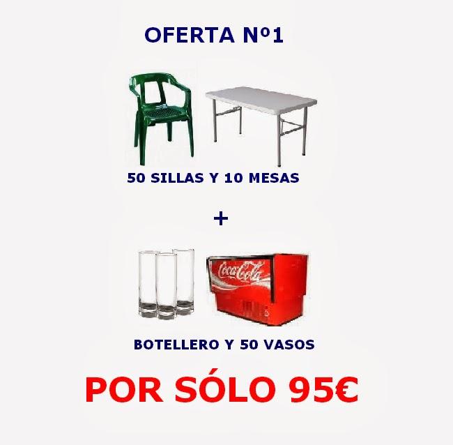 oferta 1 en alquiler de sillas y mesas en jaen