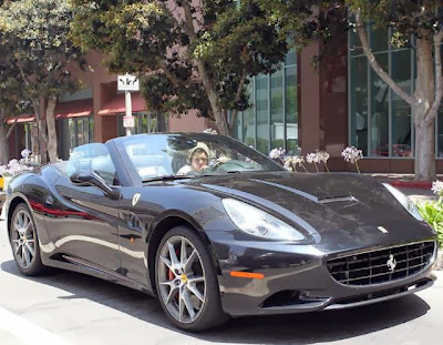 The cars of Harry Styles Ferrari California