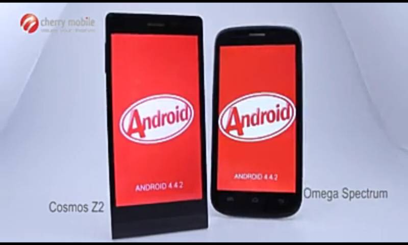 Android Kitkat Soon on Cherry Mobile Cosmos Z2 and Omega Spectrum