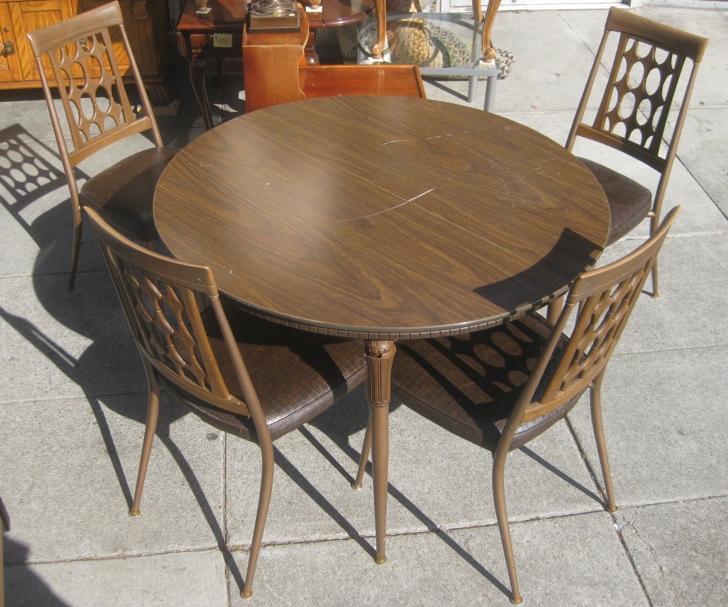 Uhuru Furniture Collectibles Sold Retro Kitchen Table And 4 Chairs 50