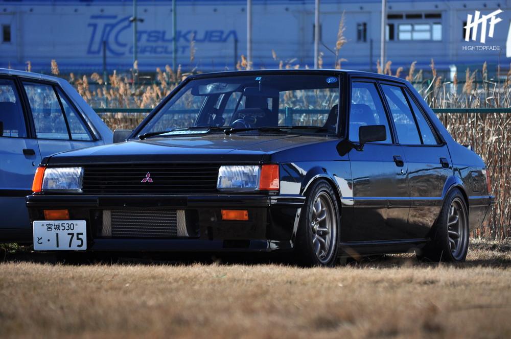 Mitsubishi Lancer II  stary japoński samochód, klasyk, oldschool, 日本車, クラシックカー
