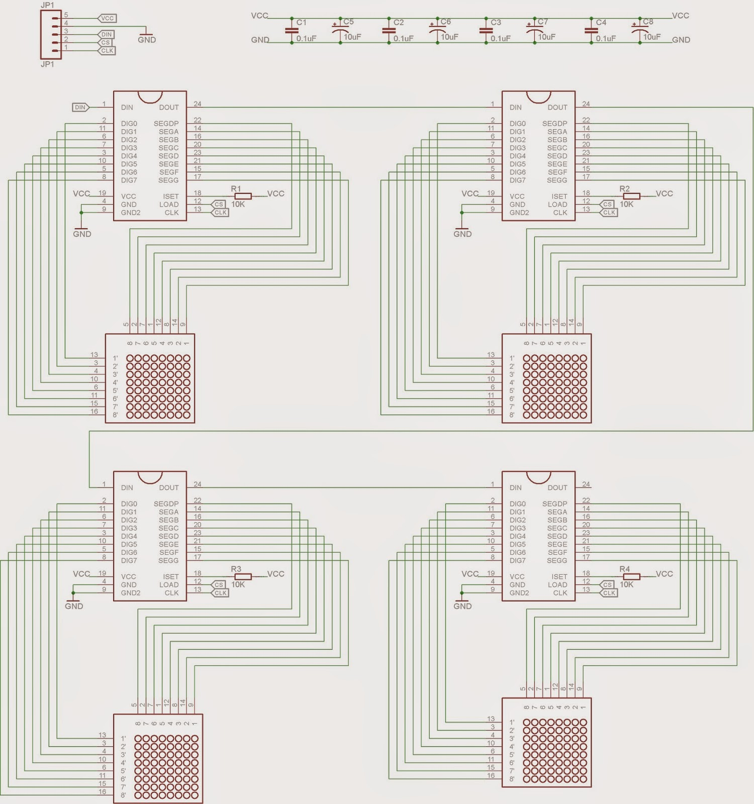 Bored Me As Directed In The Diagram Circuit Requires A Couple Of 1uf Now Nice Thing About Designing This Using Eagle Is That Its Easy To Create Corresponding Design For Custom Pcb Just By Dragging And