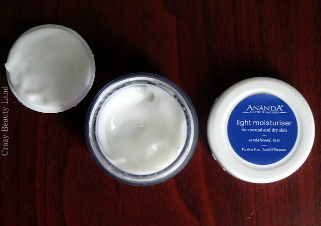 June FAB BAG Ananda Spa Sandalwood & Rose Light Moiturizer for normal and dry skin review