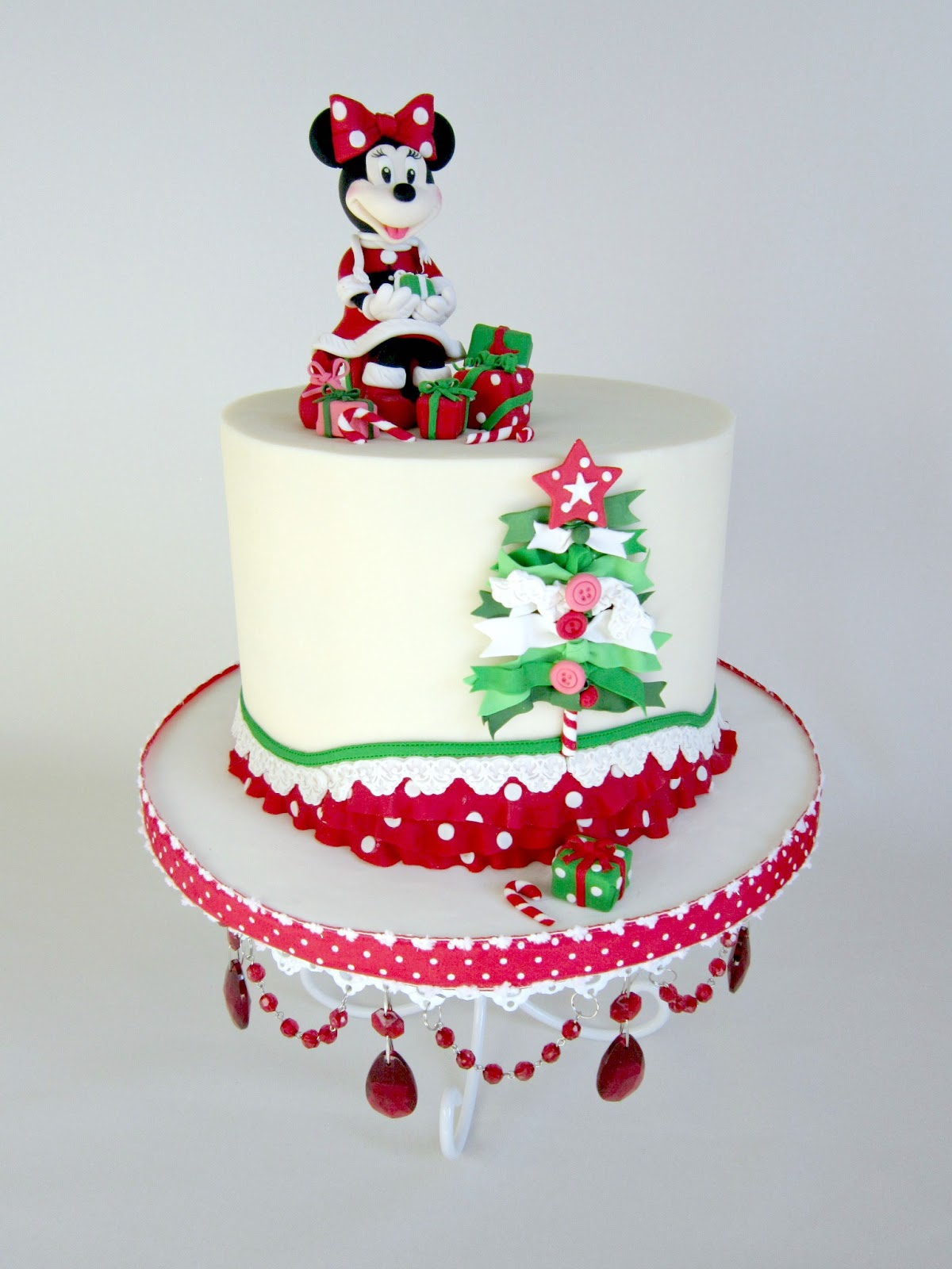 Delectable Cakes Adorable Minnie Mouse Christmas Birthday