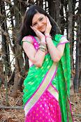 Pujitha sizzling in half saree-thumbnail-7