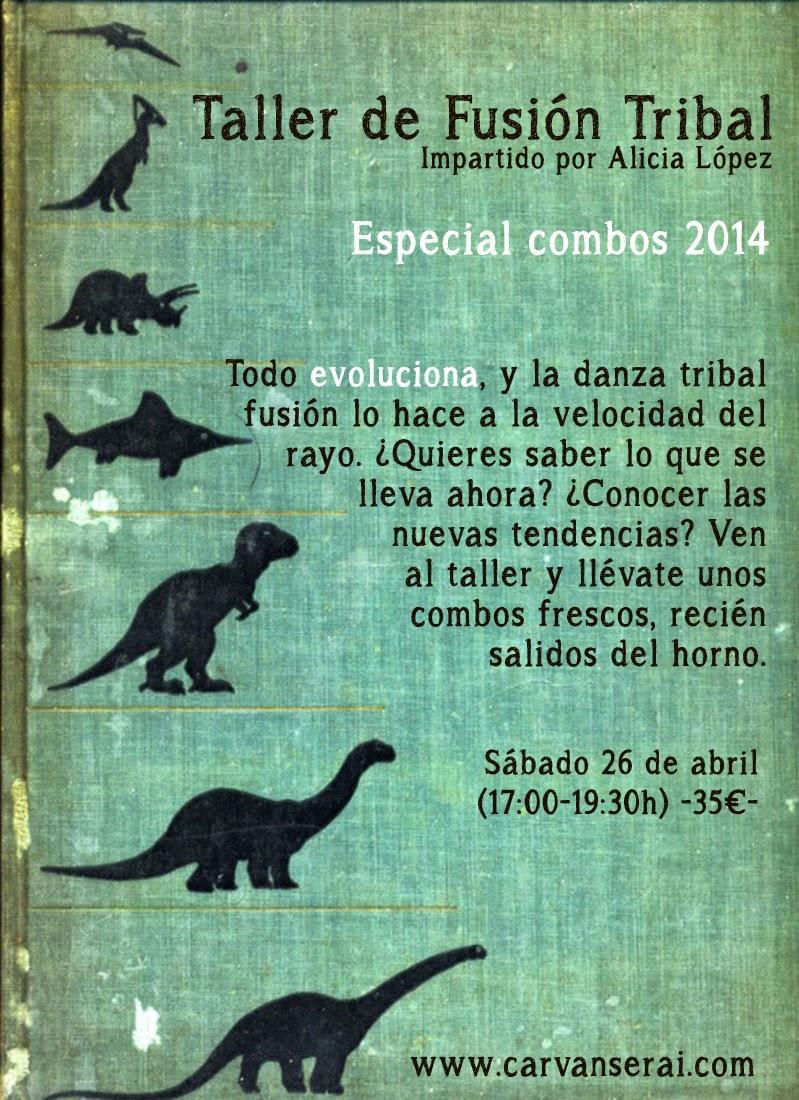 Taller de tribal fusión con Alicia Lopez en Madrid 2014