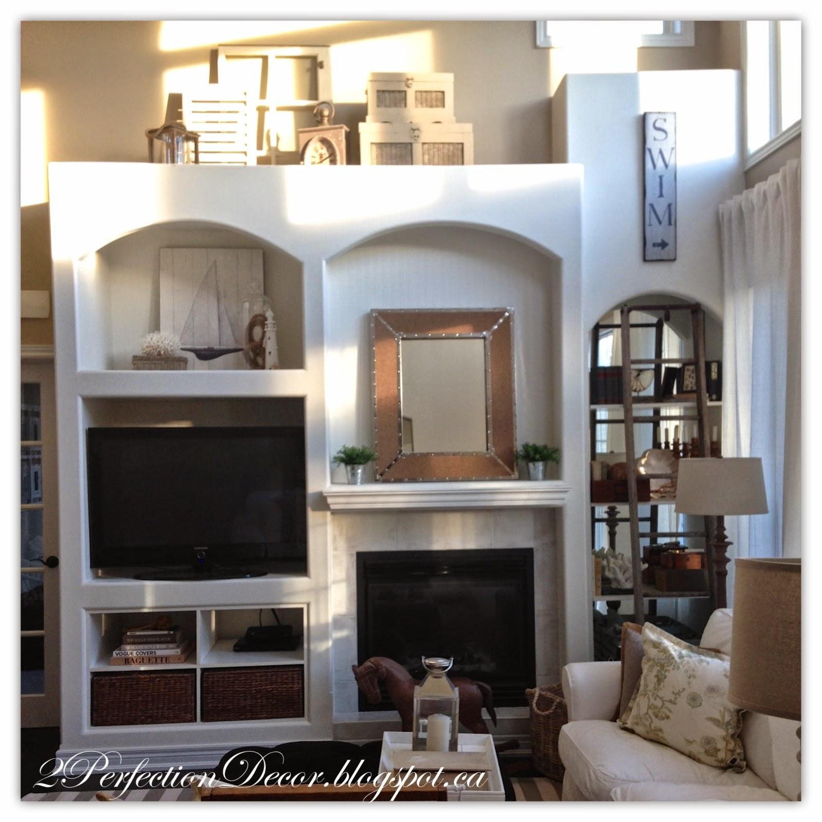 2perfection decor drywall media built ins u0026 styling