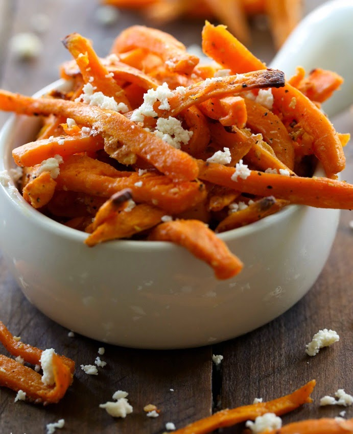 cheesy sweet potato fries