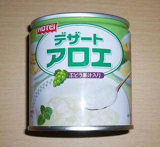 ホテイフーズのデザート アロエ ぶどう果汁入り(缶詰)