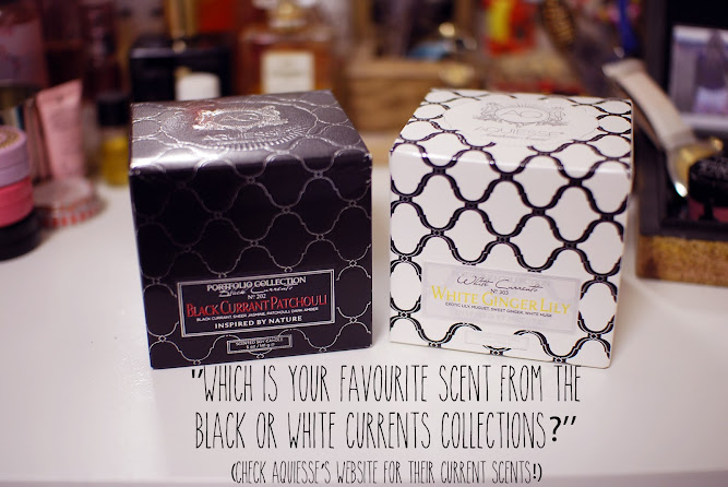 Aquiesse Candle Giveaway Black and White Currents Collection