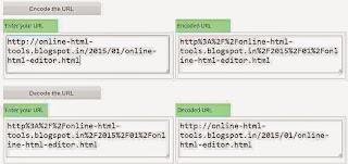 URL encoder and decoder