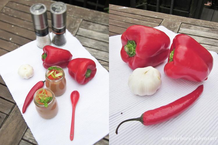 Gazpacho: Tomaten und Gurken