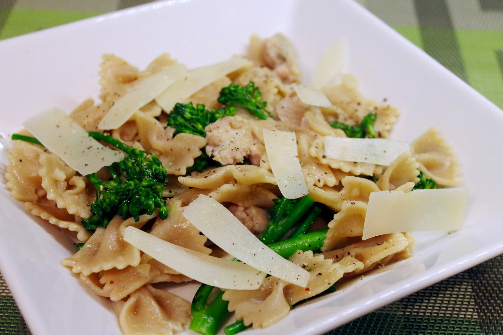 Whole Wheat Pasta with Sausage and Broccolini