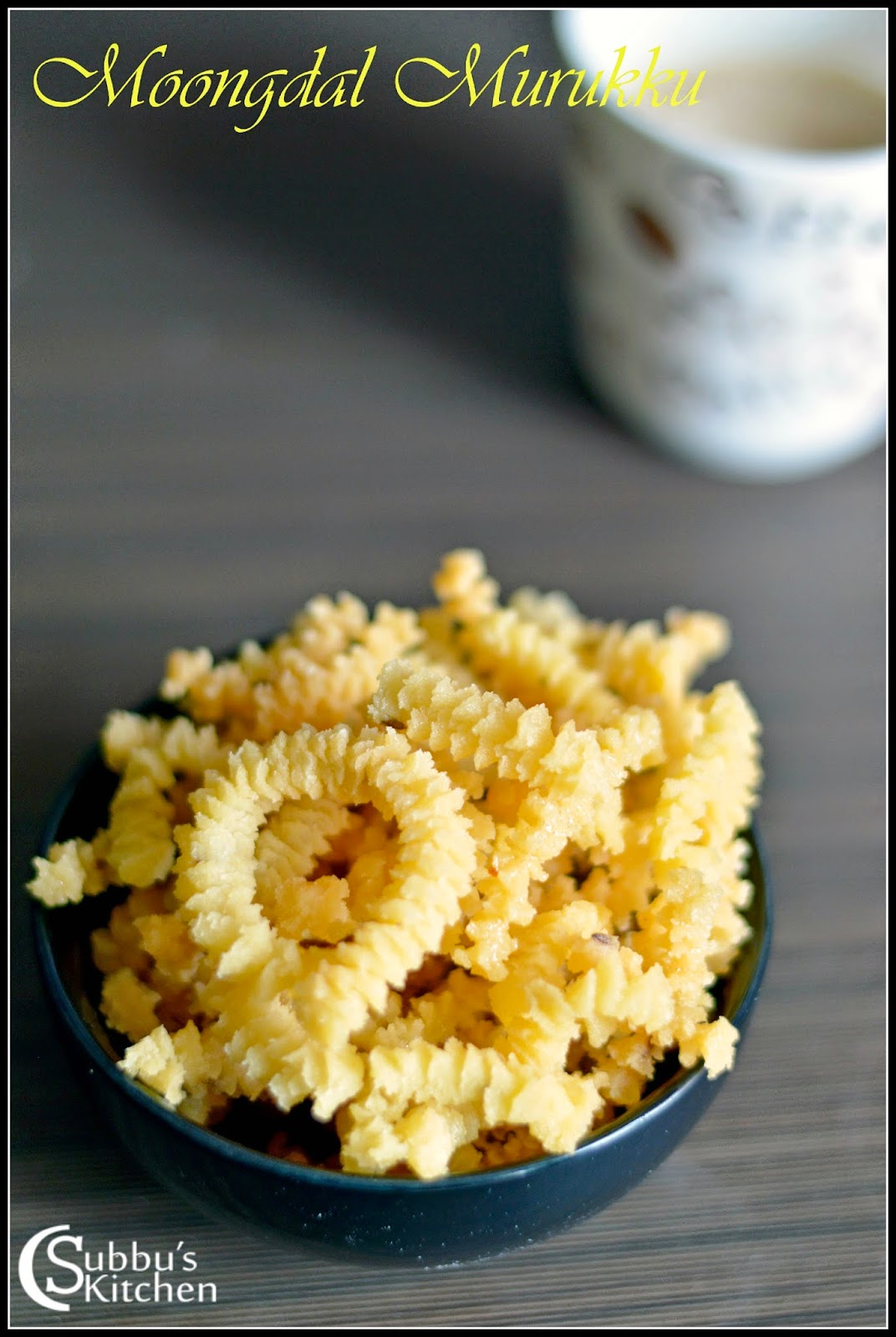 Moongdal Murukku Recipe   Paithamparuppu Murukku Recipe