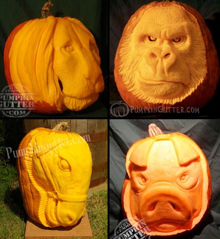 Odd Phobia 3d Pumpkin Carvings