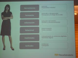 Imagen de las Competencias Digitales según Genís Roca - Imagen de Gorka Corres Zamacola a partir de la presentación del ponente