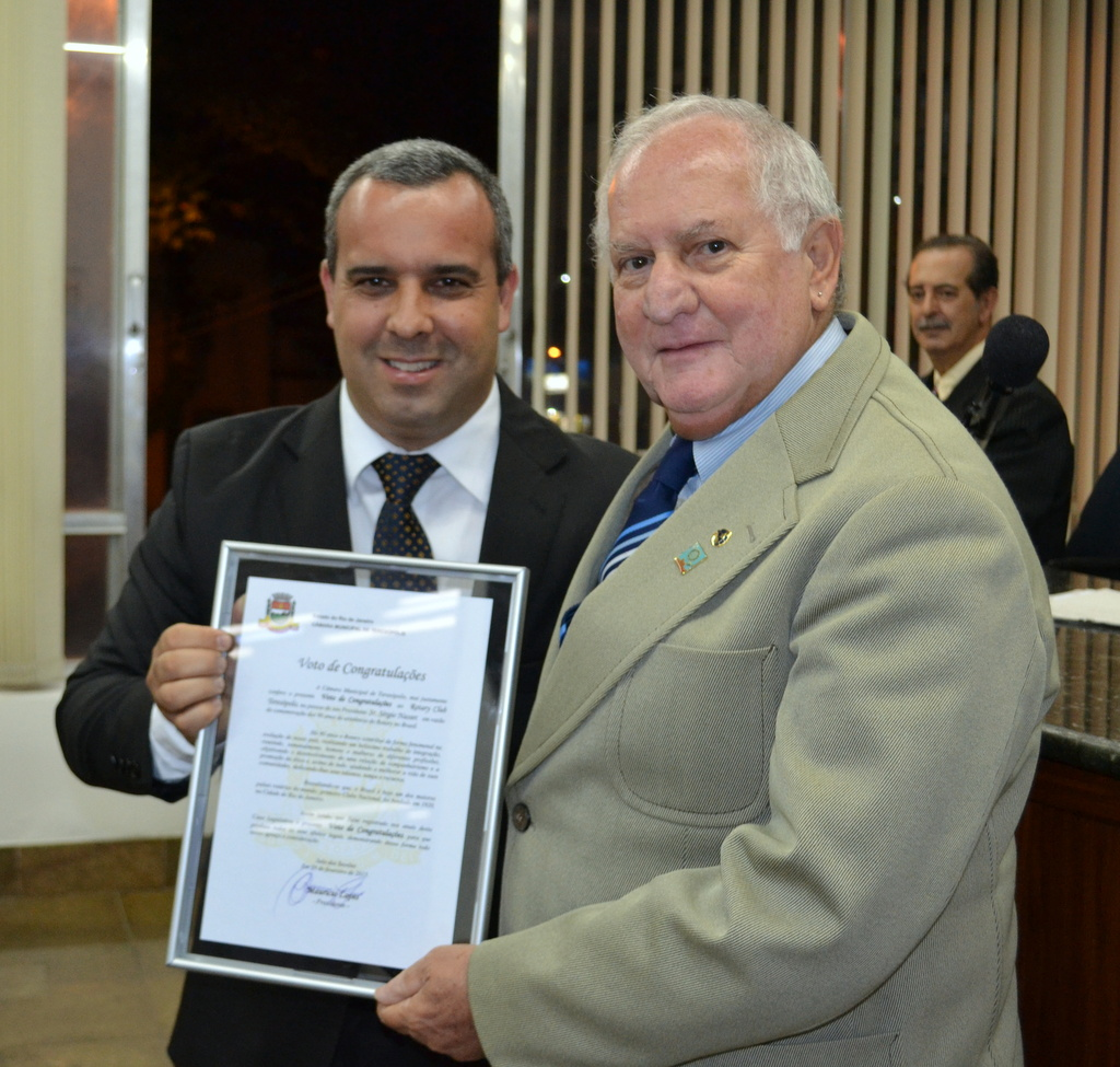 Presidente do Rotary Club de Teresópolis, Sérgio Nasser