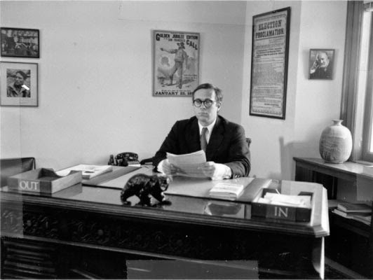 Kevin Starr, as City Librarian in the 1970s
