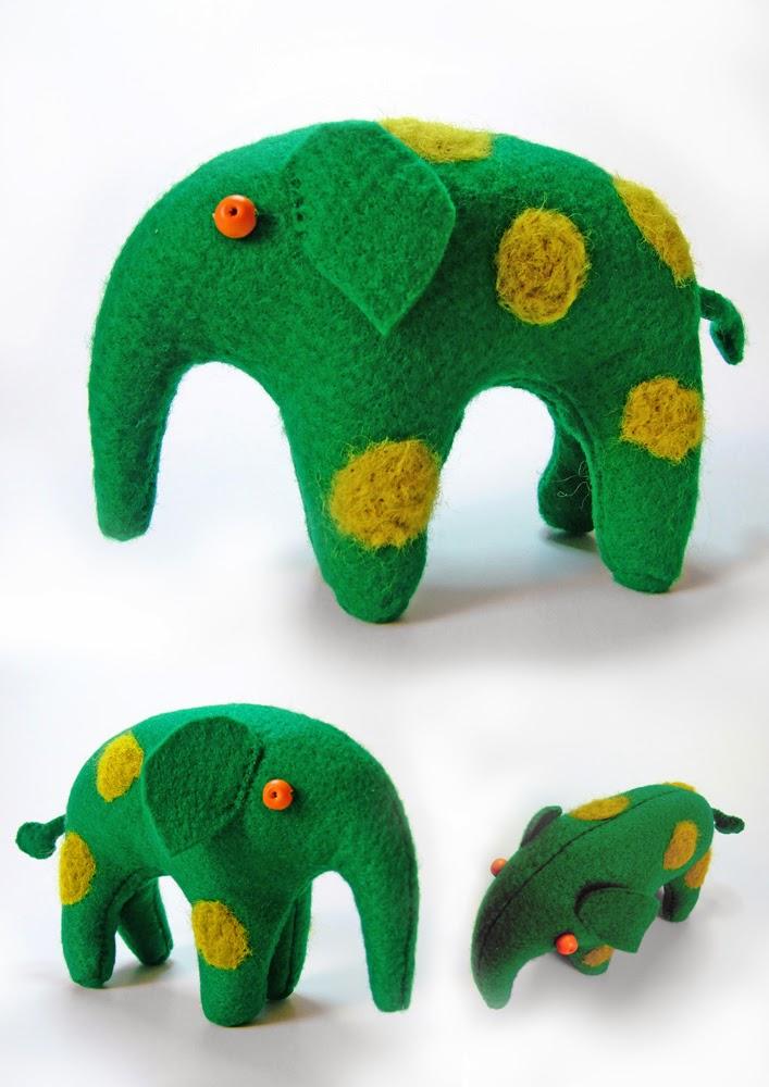 Green elephant toy