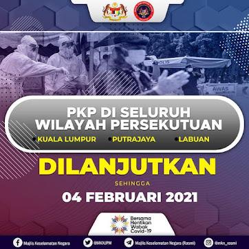 行动管制令 (PKP) 延长至2月4日