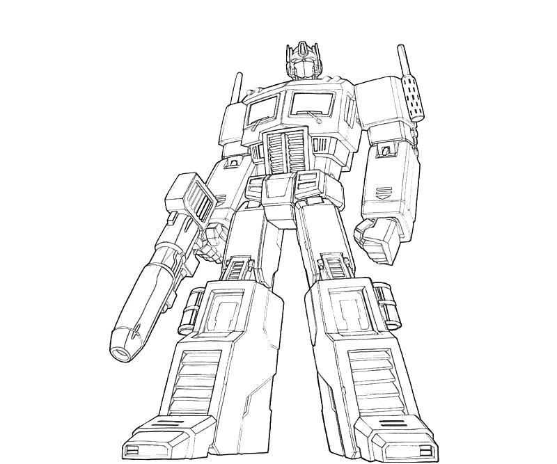 Optimus Prime Truck Coloring Pages Optimus Prime Coloring Page