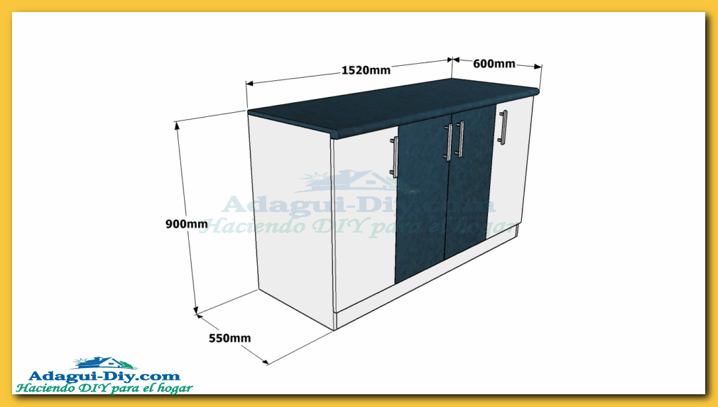 Como hacer muebles de cocina bajo mesada for Disenar plano cocina