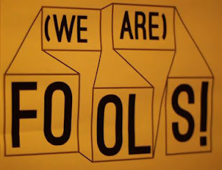 'we are the fools' written in a yellow sheet