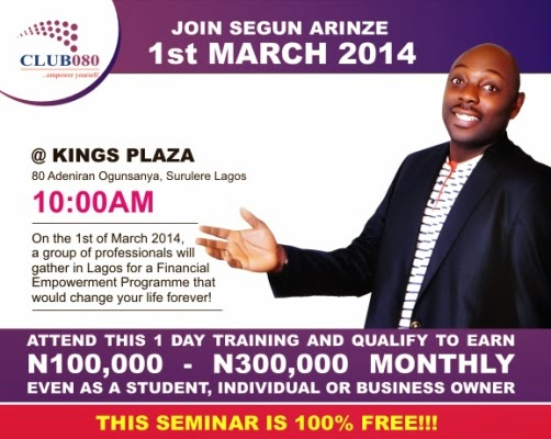 segun arinze life changing seminar