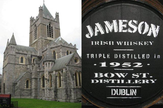 Christ Church Cathedral Catedral y The Jameson Distillery Destileria Museo en Dublin